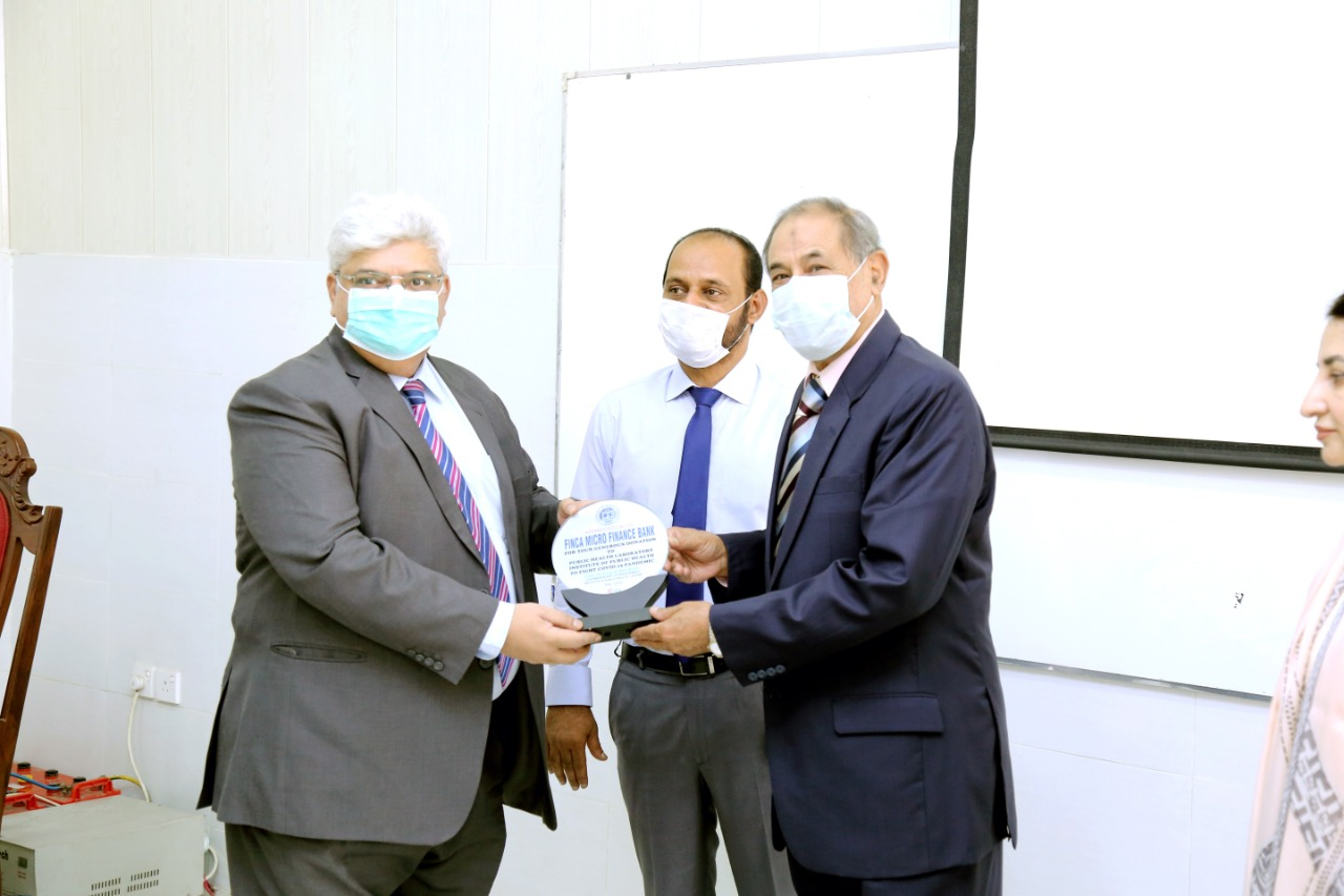 FINCA Pakistan donates to Institute of Public Health Pakistan!