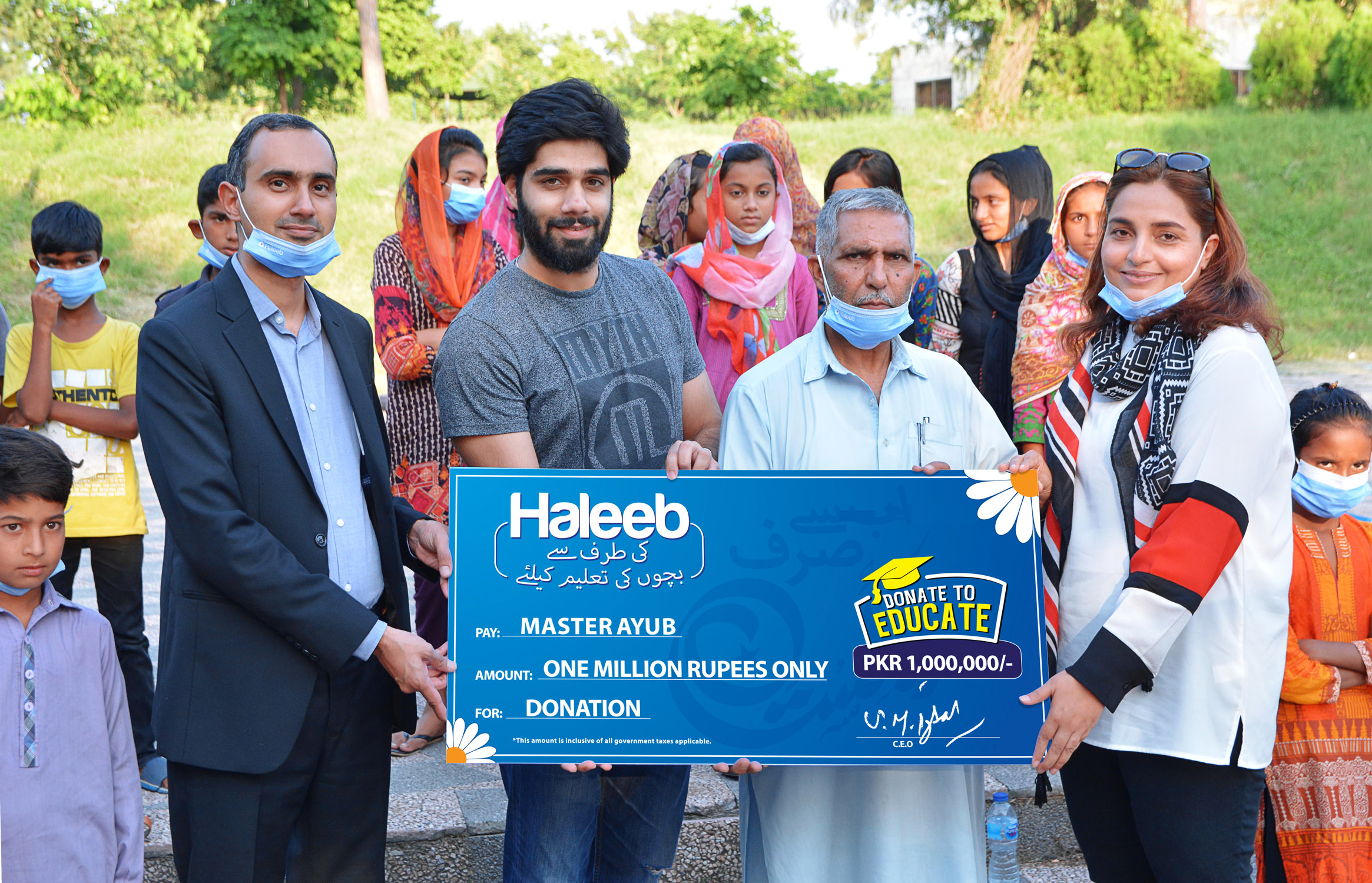 Haleeb Foods donates PKR 1 Million to Master Ayub in a bid to promote education