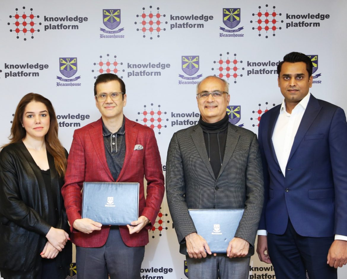 Beaconhouse and Knowledge Platform Sign Education Technology Deal for 100,000 Students